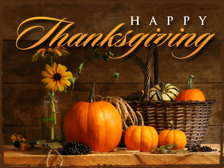 Thanksgiving Break ~ No Classes