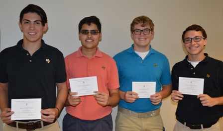 Four Students Named Commended Students in the 2017 National Merit Scholarship Program