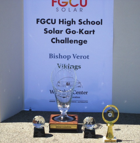 Bishop Verot's STEM team wins in FGCU's Solar Go-Kart Challenge