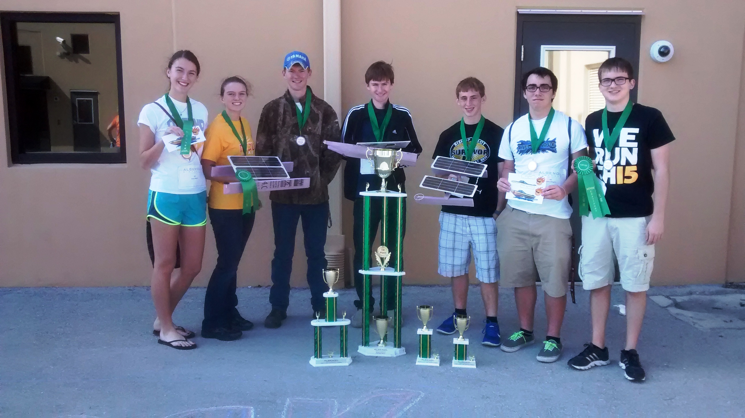 Bishop Verot's STEM team sweeps the Algenol Solar Boat Competition
