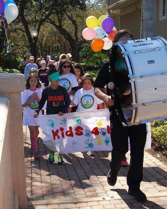Bishop Verot Drum Line Helps at Charity Event