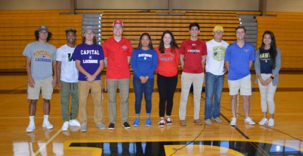 Verot Holds Celebratory Signing for Ten Senior Athletes